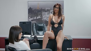 Busty and horny office lesbians Isis Love and Jenna Sativa